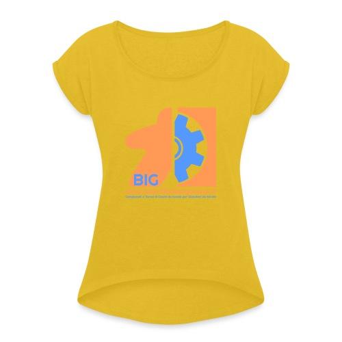 BIG - Maglietta da donna con risvolti