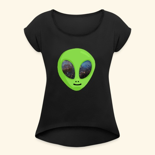 ggggggg - Vrouwen T-shirt met opgerolde mouwen