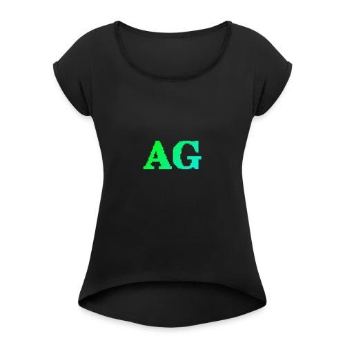 ATG Games logo - Naisten T-paita, jossa rullatut hihat