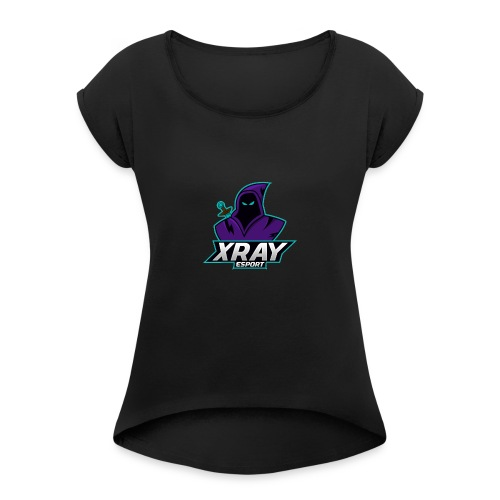 XRAY - Koszulka damska z lekko podwiniętymi rękawami
