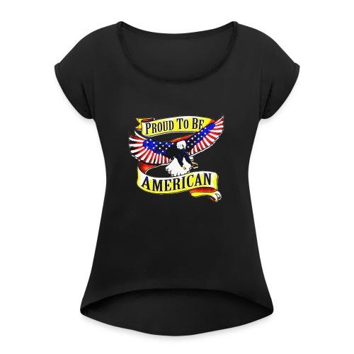 EAGLE PROUD TO BE AMERICAN UNISEX T-SHIRT - T-shirt à manches retroussées Femme