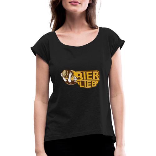 BIERLIEB - Frauen T-Shirt mit gerollten Ärmeln