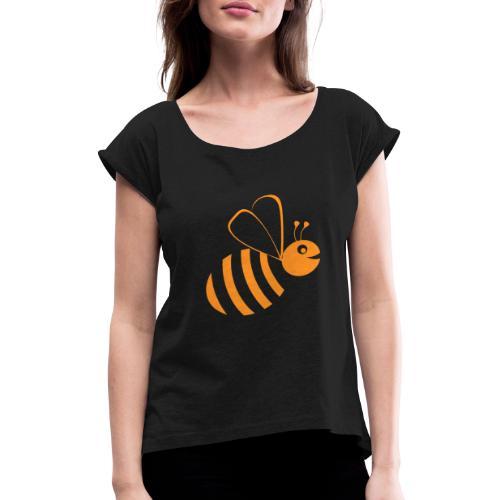 Abeille ABC-Applications - T-shirt à manches retroussées Femme