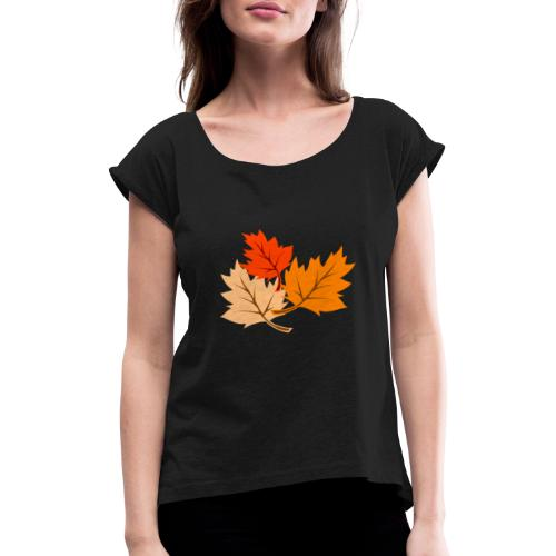 Printemps - T-shirt à manches retroussées Femme