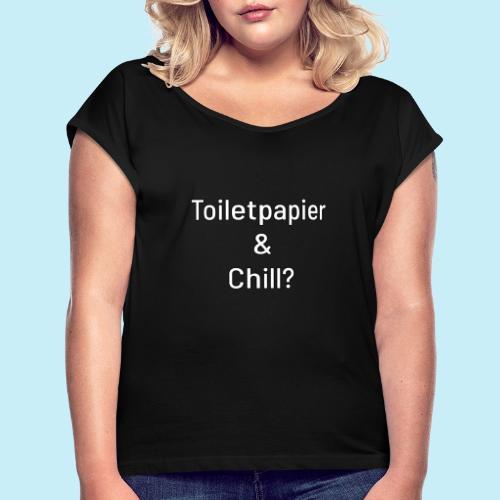 toiletpapier - T-shirt à manches retroussées Femme