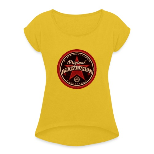 ORIGINAL PROPAGANDA - Women's T-Shirt with rolled up sleeves