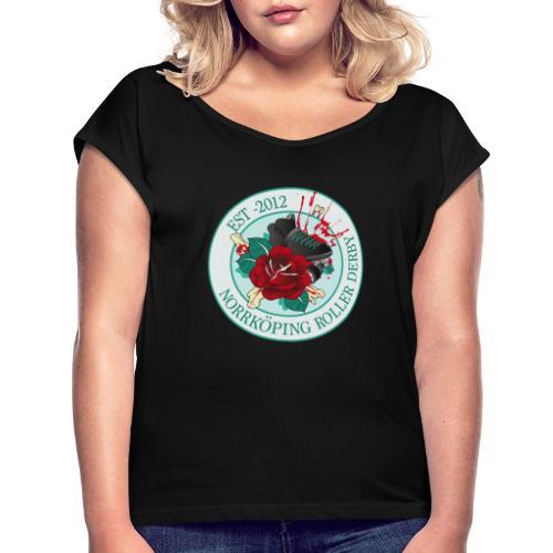 NRD logga - T-shirt med upprullade ärmar dam