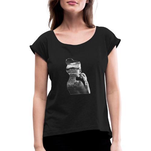 Femme - T-shirt à manches retroussées Femme