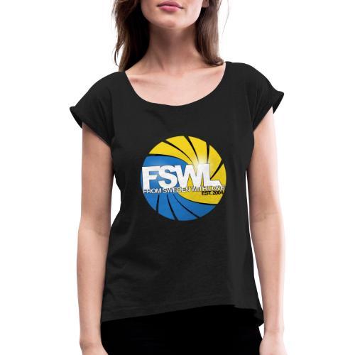 From Sweden With Love (FSWL) - T-shirt med upprullade ärmar dam