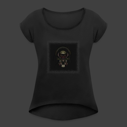 The Scream - Women's T-Shirt with rolled up sleeves