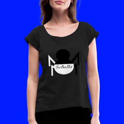 arachnid - T-shirt med upprullade ärmar dam