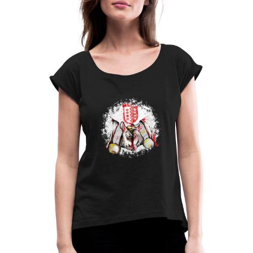 Vache d'hérens Eringer valais - T-shirt à manches retroussées Femme