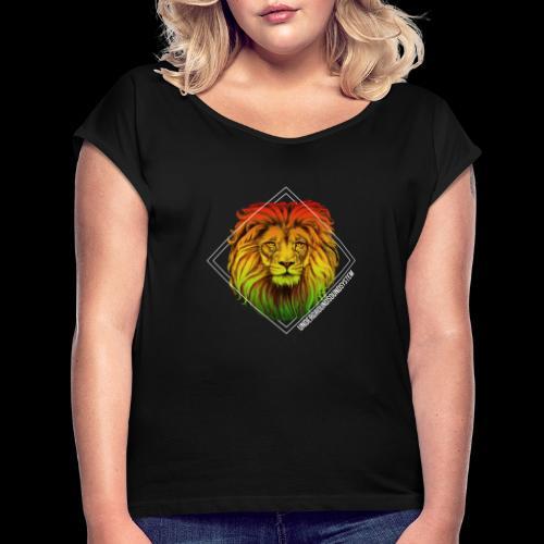 LION HEAD - UNDERGROUNDSOUNDSYSTEM - Frauen T-Shirt mit gerollten Ärmeln
