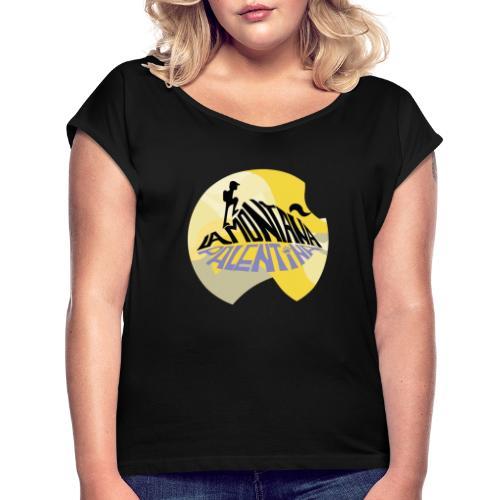 montaña palentina- oficial - Camiseta con manga enrollada mujer