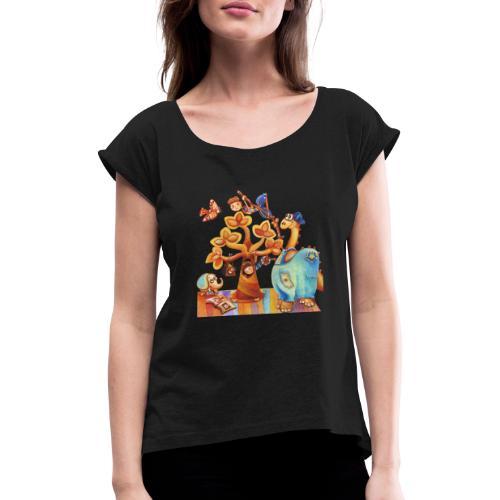 Dinosauro buono - Maglietta da donna con risvolti