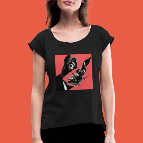salvador's dog - Vrouwen T-shirt met opgerolde mouwen