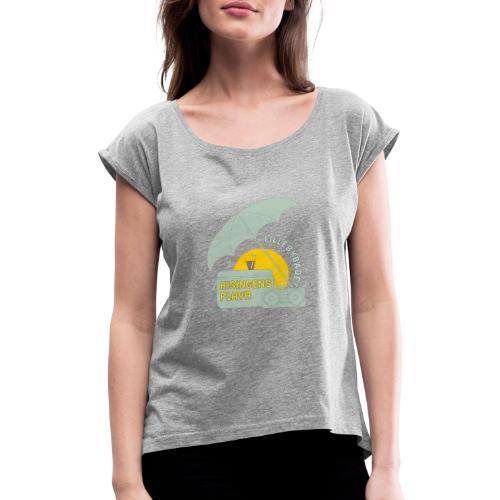 Playa green - T-shirt med upprullade ärmar dam