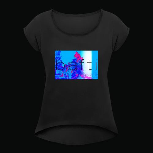 bafti lsd tee - Dame T-shirt med rulleærmer