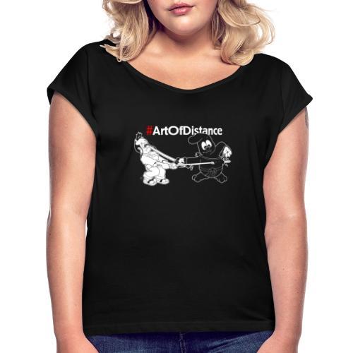 Art of Distance - Kampfkunst Comic - Frauen T-Shirt mit gerollten Ärmeln