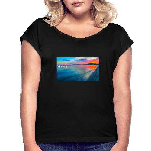 DKeeej Offical - Frauen T-Shirt mit gerollten Ärmeln