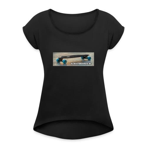 cropped-logga-elskateboards - T-shirt med upprullade ärmar dam