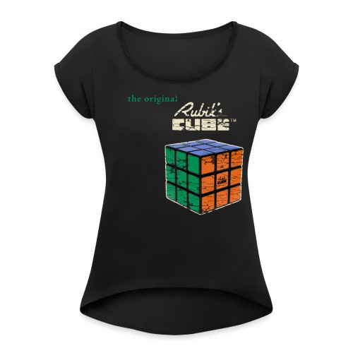 Rubik's Cube The Original - Women's T-Shirt with rolled up sleeves