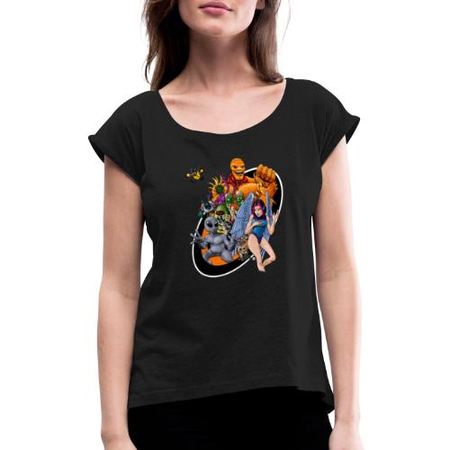 Startopia Character Emblem - Women's T-Shirt with rolled up sleeves