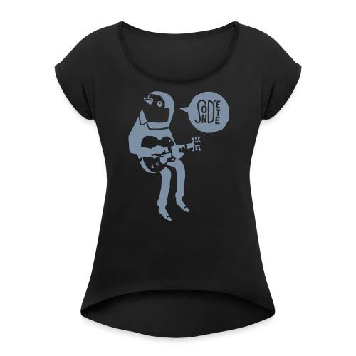 Le son d'été birdy jam 2016 (Bag) - Frauen T-Shirt mit gerollten Ärmeln