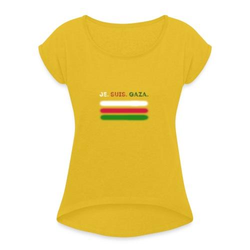 Je Suis Gaza - Dame T-shirt med rulleærmer