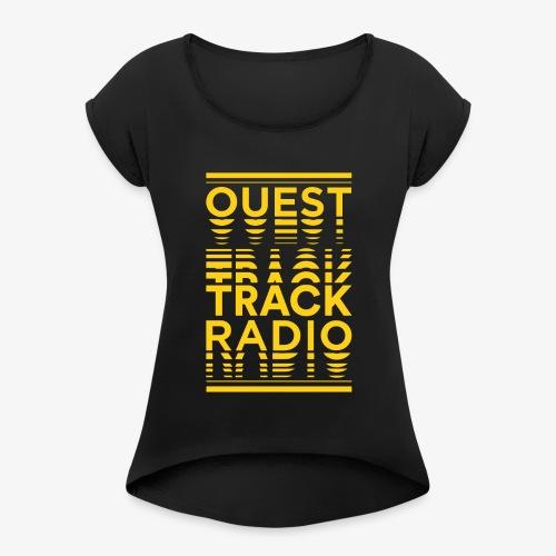 Logo Vertical Grand Jaune - T-shirt à manches retroussées Femme
