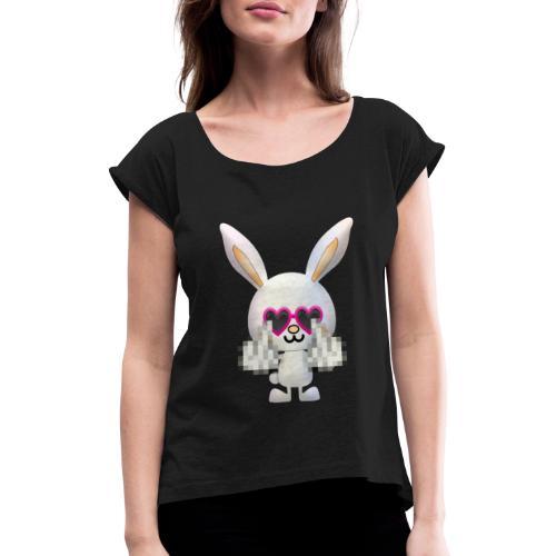 Lapin F*** - T-shirt à manches retroussées Femme