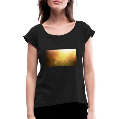 Sunshine view - Frauen T-Shirt mit gerollten Ärmeln