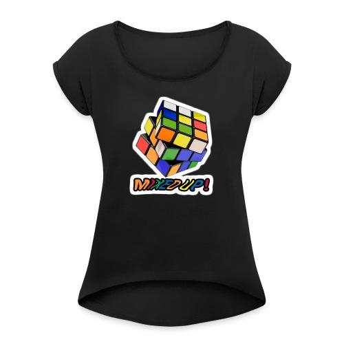 Rubik's Mixed Up! - T-shirt med upprullade ärmar dam