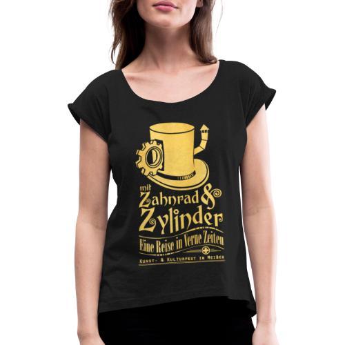 ZuZ 2017 + Brust- & Rückenmotiv - Frauen T-Shirt mit gerollten Ärmeln