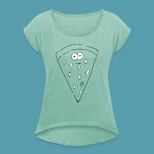 vesimelooni - Naisten T-paita, jossa rullatut hihat