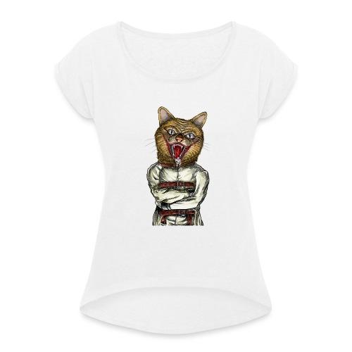 Crazy Cat - T-shirt à manches retroussées Femme