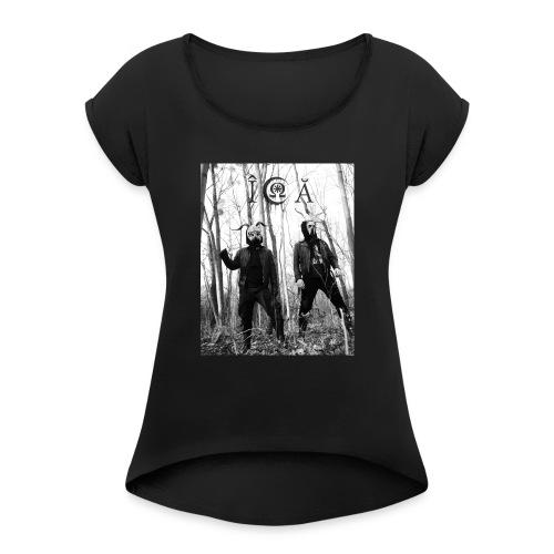 ICA Bandfoto 2019 - Frauen T-Shirt mit gerollten Ärmeln
