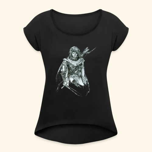 Thorn Gandir 5 - Frauen T-Shirt mit gerollten Ärmeln
