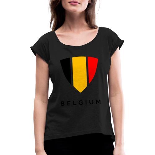 Bouclier de Belgique 2021 - T-shirt à manches retroussées Femme
