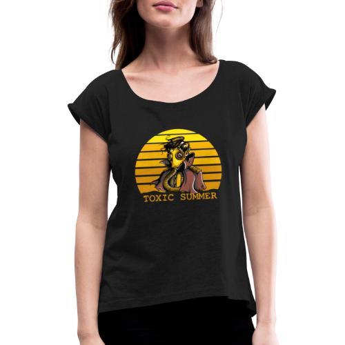 Toxic Summer - Camiseta con manga enrollada mujer