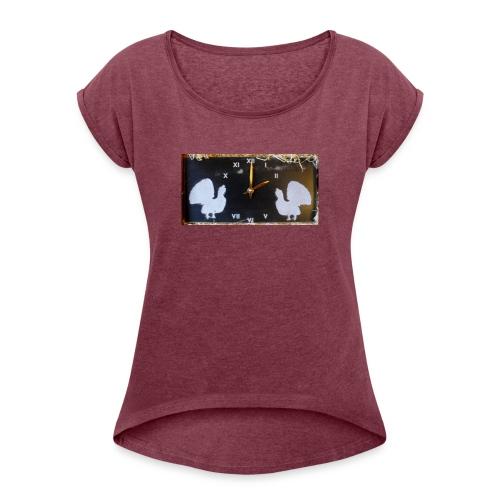 Metsot - Naisten T-paita, jossa rullatut hihat