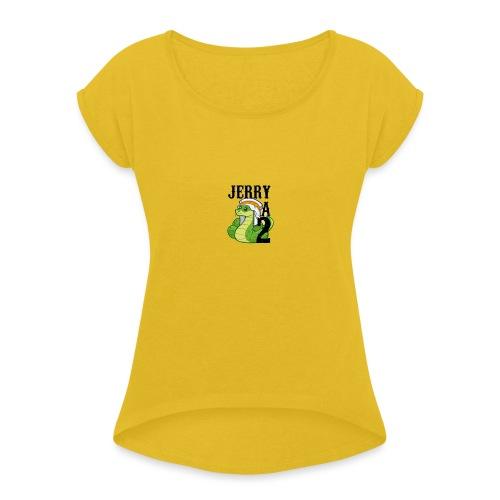 chechepent - T-shirt à manches retroussées Femme