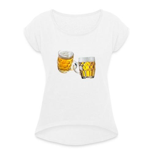Boccali di birra - Maglietta da donna con risvolti