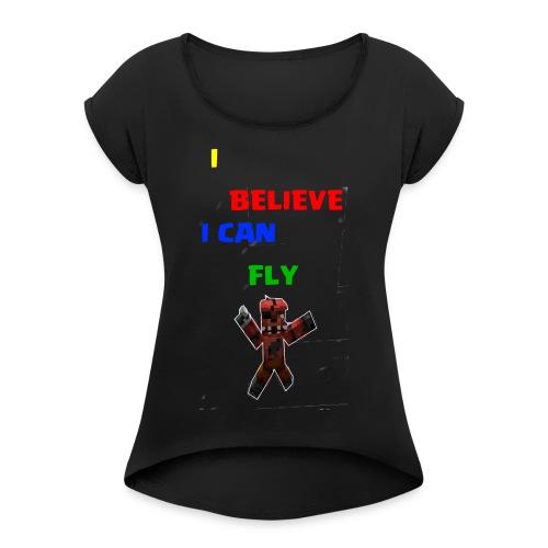 FOX CHE CADE - Maglietta da donna con risvolti