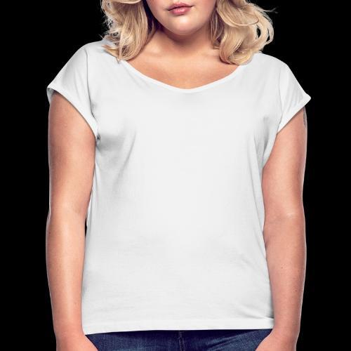 Palm Basic White - Dame T-shirt med rulleærmer