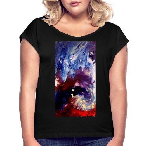 Ocean Vibes - Vrouwen T-shirt met opgerolde mouwen