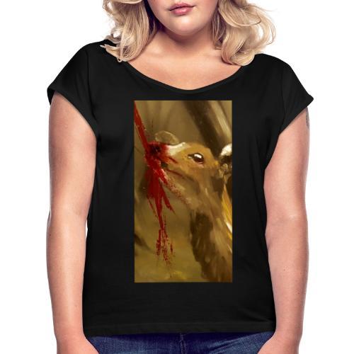 Shot? - Vrouwen T-shirt met opgerolde mouwen
