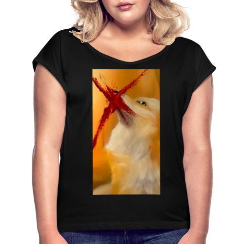 Shot? #2 - Vrouwen T-shirt met opgerolde mouwen