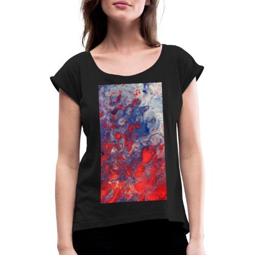 Fury - Vrouwen T-shirt met opgerolde mouwen