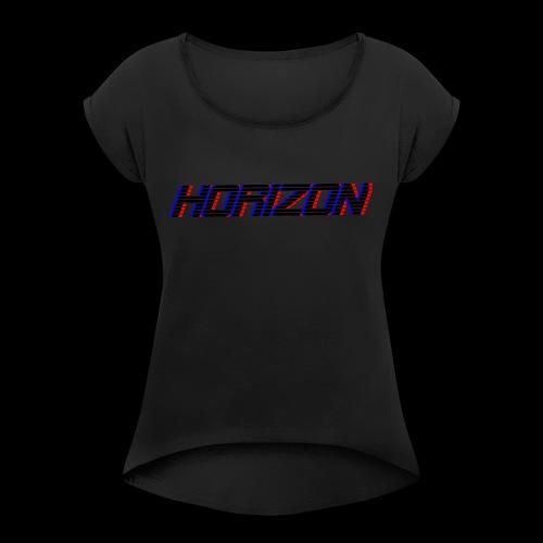 LOGO Horizon - T-shirt à manches retroussées Femme